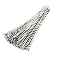 China High Tensile Strength Self Locking Stainless Steel Cable Ties Acid Alkali Resistance on sale