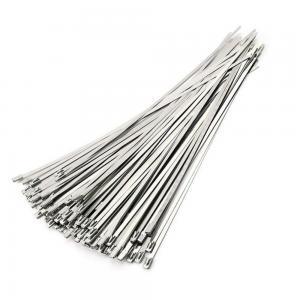 High Tensile Strength Self Locking Stainless Steel Cable Ties Acid Alkali Resistance