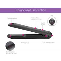 Usb Cordless Rechargeable Curling Tools Battery Operated Flat Iron For Outdoor Manufactures