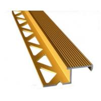 Aluminum Tile Trim / Aluminum Extrusion Profile with Golden Anodized Color Manufactures