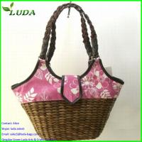 Superior quality Chinese colorful handmade Corn husk bags