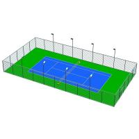 Green / Blue Outdoor Basketball Surface Material , 3mm Sports Flooring Tiles Manufactures