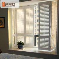 Aluminum Alloy Swing Plantation Shutters Environment - Friendly White Color Manufactures