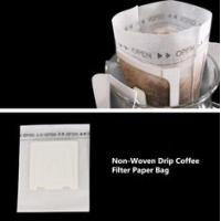 Non Woven / Paper / Cotton Drip Coffee Filter Bags Food Grade Custom Size Manufactures