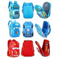 Fashion Disney Cars Racers 3D Red Lightning McQueen Kid's School Bag Primary Backpack Manufactures