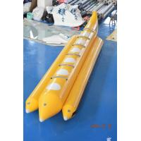 Yellow Color Lake Inflatable Banana Boat Fly Fish With EN15649 For Children Manufactures
