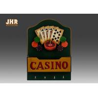Quality Casino Wall Decor Antique Wood Wall Sign Wooden Envelope Holder Decorative Wall Plaques for sale