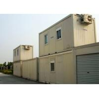 Environment Friendly Steel Container Houses White Color With Office For Business