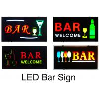 Buy cheap 23X43cm Flashing  LED Bar Sign With Four Display Modes  Window Shop Signage from wholesalers
