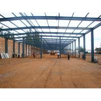 Metal Frame Structure Warehouse / Prefabricated Warehouse Buildings In Steel Manufactures