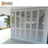 White Color Horizontal Fixed Aluminum Louver Window For Commercial House