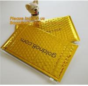 Slider padded grip seal Golden bags, air bubble bag with slider zipper,design custom anti static plastic black ziplock b Manufactures