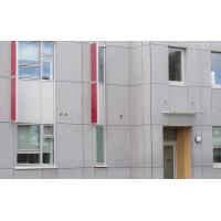 Cellulose Exterior Fiber Cement Board , Light Grey Cement Sheet Wall Panels Manufactures