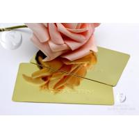 China High Gloss Plain Waterproof Mirror Business Cards Metal Stainless Steel Engraved for sale