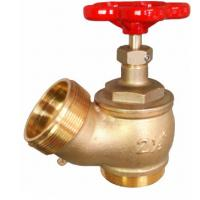 Red Hand Wheel Single Headed Hydrant Valve , Brass Fire Fighting Landing Valve Manufactures