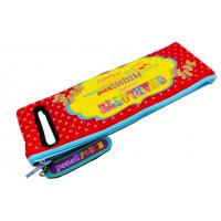 China Zippered Textile Neoprene Pencil Case With Colorful Printing For Kids on sale