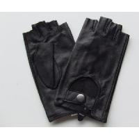 Fingerless Leather Lady Gloves Manufactures