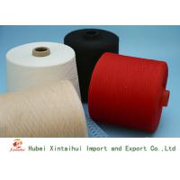 Multi Colored 100 Polyester Spun Yarn , Bright Polyester Core Spun Yarn Manufactures