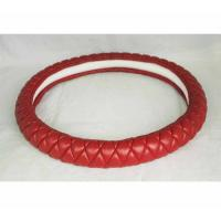 China Lambskin hot sell Kuwait Russia Peru car steering wheel cover from Factory on sale