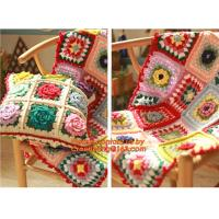 The good hand exclusive retro handmade crochet Mori stereo flower Retro Red Edge pillow Manufactures