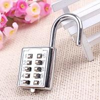 Mini Push Button Code Resettable Combination Padlock 10 Pin Sports Locker Manufactures
