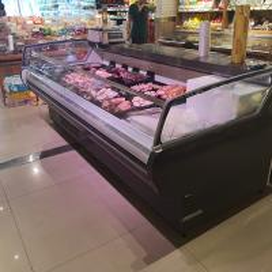 Supermarket deli meat case Fresh Meat Showcase, Self-Served, 420L, 2500mm Manufactures