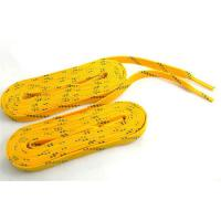 Durable Yellow White Color Custom Shoe Laces For Kids / Adult Manufactures