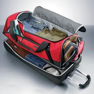 China travel luggage Large 30 Drop Bottom Wheeled Rolling Duffel Bag Luggage on sale