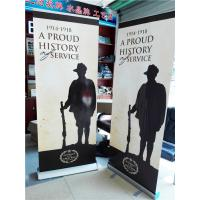 Aluminum Pull Up Retractable Display Banners Digital Printing Manufactures