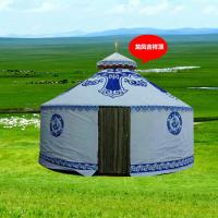 Outdoor Steel Frame White Mongolian Tent House With Wood Door And Floor Manufactures