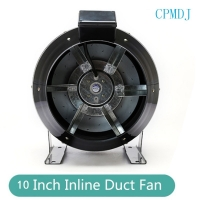 China 10 Inch Steel Round Exhaust Inline Duct Fan for Hydroponics Grow Tent Ventilation / Smoke Extractor on sale