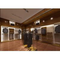 Retail Shop Fixtures / Clothing Display Case Top Grade Grained Veneer Wooden Material Manufactures
