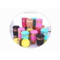 Creative Bamboo Fibre Coffee Cup , Personality Anti Scalding Mug With Silicone Sleeve / Lid Manufactures