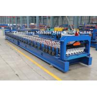 PPGI Roofing Sheet Roll Forming Machine Step Tile Making Machine PLC control Manufactures