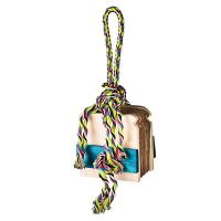 Quality shred and find bird foraging toys peanut hiding cardboard with color rope for sale