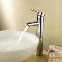 Single Handle Deck Mounted Brass Bathroom Tap Chrome Plated For Above Counter Basin Manufactures
