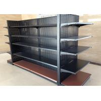 China Cold Rolled Steel Supermarket Display Shelving With Perforated Back Panel on sale
