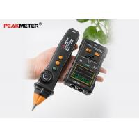Black Electrical Cable Tracer , Network Wire Coax Cable Continuity Tester Manufactures