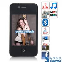China HiPhone A5 Quad Band Three Cards Three Standby Dual Cameras Bluetooth Java 3.2-inch Touch Screen Phone on sale