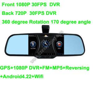 5.0inch Espejo retrovisor con Wifi HD dual DVR y MP5 GPS