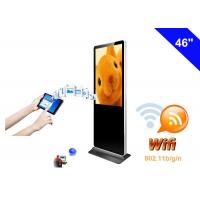 Dual Core WiFi Digital Signage Totem , Floor Standing LCD Advertising Display Manufactures