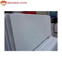 1.8cm Thickness Thassos White Marble Stone , Polished Honed White Crystal Marble Manufactures