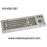 80 Keys IP65 Rated Metal Industrial Keyboard With Trackball Mouse And Numeric Keypad Manufactures