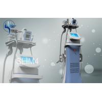 Quality Vertical RF 50 W Vacuum Cavitation Slimming Machine With 4 Handles for sale