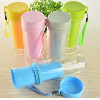 China PP handy cup,plastic cup, two lawers cup, handy rope cup,gift cup on sale