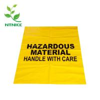 Thick durable Chemical spill kits Large Disposal Bags yellow color Dangerous goods handling bag Manufactures