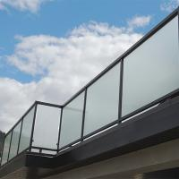 China Glass factory supply high quality decorative acid etched frosted glass fence panels on sale