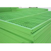 """Height 6'/1830mm Width 9.5'/2900mm 6'x9' construction temp fence  3""""x6"""" 75mm x 100mm*3.50mm Powder Coated  Green Manufactures"""