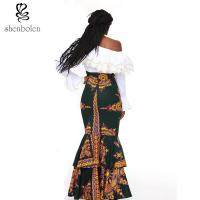 Quality african design dresses Off The Shoulder African Batik Print Dress For Women for sale