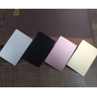 Colored  Metal Business Cards Printing , Square Custom Aluminum Business Card